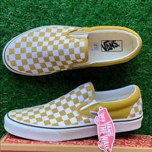 VANS CLASSIC SLIP ON CHECKERBOARD OLIVE OIL WMNS